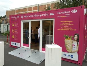 Carrefour\'s after-work pick-up point